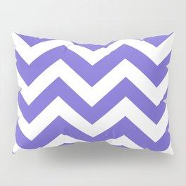 Slate blue - blue color - Zigzag Chevron Pattern Pillow Sham