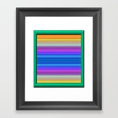 Framing layers of Colours Framed Art Print