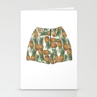 pineapples Stationery Cards featuring Pineapples by Stephany Moreno