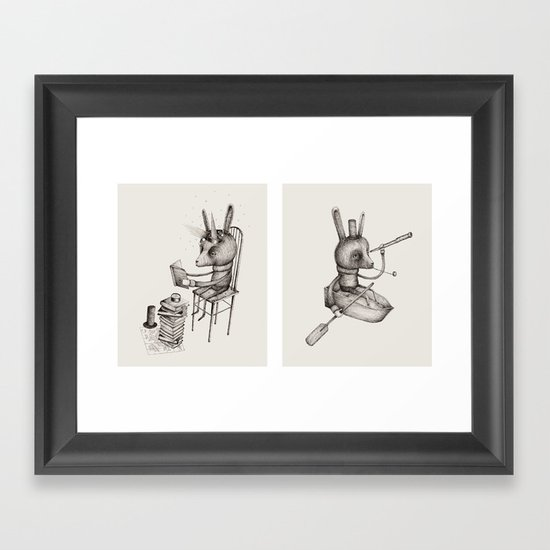 'Dreams Of Leaving' (Part 1 & 2) Framed Art Print