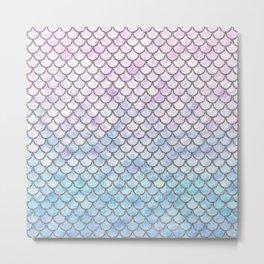 Pastel Mermaid Scales Pattern Metal Print