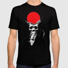 SPLASH SKULL Black LARGE Mens Fitted Tee