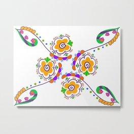 Booming Color Metal Print
