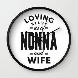 Nonna and Wife Wall Clock