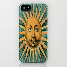 Vintage Sun Print iPhone Case