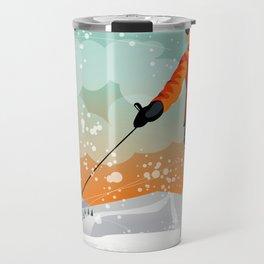 Skier Looking Travel Mug