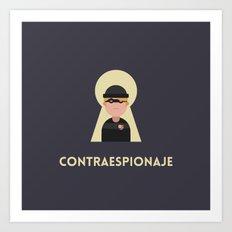 Contraespionaje Art Print