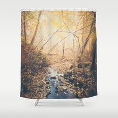 Blue cola mountain Shower Curtain