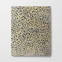 Colvi - leopard animal print gold black and white gender neutral modern trendy non binary art decor Metal Print