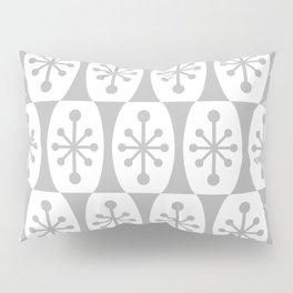 Mid Century Modern Atomic Fusion Pattern Grey Pillow Sham