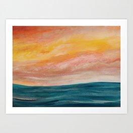 Rolling ocean Art Print
