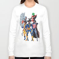 xmen Long Sleeve T-shirts featuring Z fighters crossover xmen by Unic art
