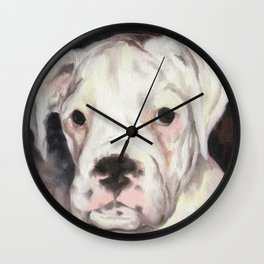 maisy - oil on canvas Wall Clock