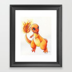 Little Charming Salamander Framed Art Print