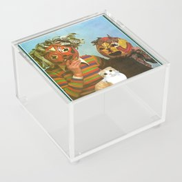 Ppl R Weird handcut collage Acrylic Box