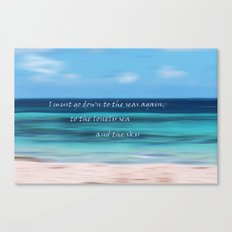 Must Go Down to the Sea Canvas Print