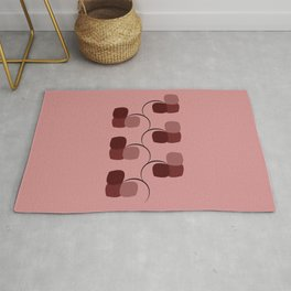 Cherry Blossom Abstract Flowers Rug