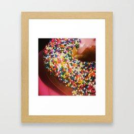 Donut Tread On Me Framed Art Print