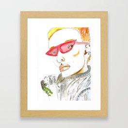 Fierce Face--Bowie inspired: #GenderNeutral #GenderEmpowerment Framed Art Print