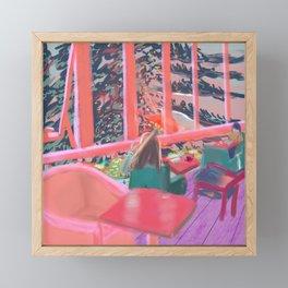 Fauvism Pinkish Cafe in Sunset Mattisse Style Framed Mini Art Print