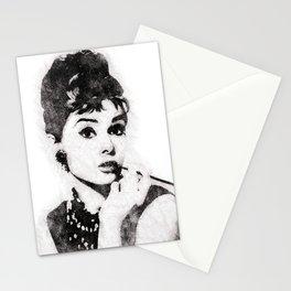 Audrey Hepburn portrait 04 Stationery Cards