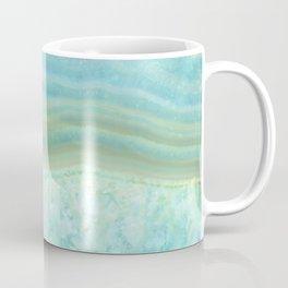 Turquoise Aquamarine Blue Gem Stone Agate Crystal Coffee Mug