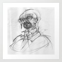 heisenberg Art Prints featuring heisenberg by robotrake