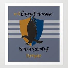 Ravenclaw Wit Beyond Measure Art Print