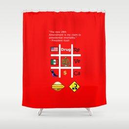 28th Amendment Shower Curtain