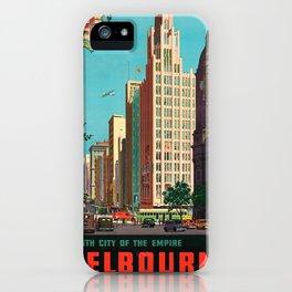Vintage Travel Melbourne iPhone Case