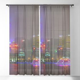Shanghai 四 Sheer Curtain