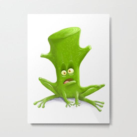 Log in a Frog Metal Print