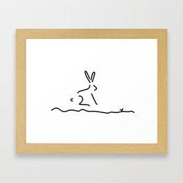 hare wildly Framed Art Print