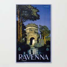 Vintage Ravenna Italy Travel Canvas Print