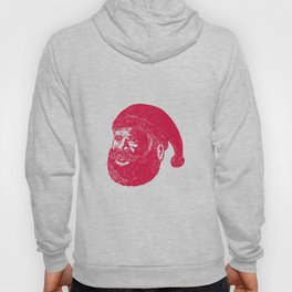 Santa Claus Head Woodcut Hoody