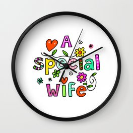 A Special Wife Wall Clock