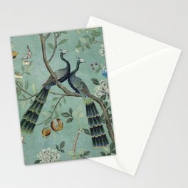 A Teal of Two Birds Chinoiserie Stationery Cards