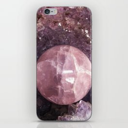 Amethyst and Pink Quartz Gemstone iPhone Skin