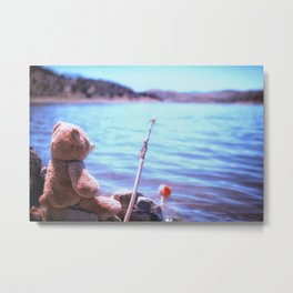 Have you ever seen a bear fishing? Metal Print