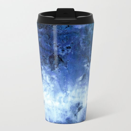Saltwater Silk Blue Metal Travel Mug