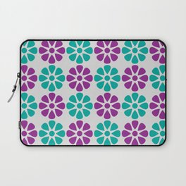 Teal and purple floral pattern Laptop Sleeve