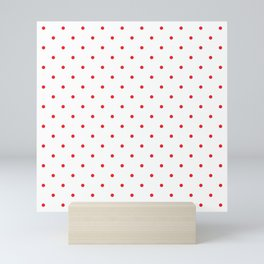 Small Red Polka Dots Mini Art Print