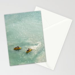 Jet Ski Friends in the Ocean | Paradise | Beach Mood | Aerial Photography | Ocean Print Stationery Cards