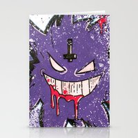 gengar Stationery Cards featuring Gengar Mega (dark twist) by Oscar Da Chef Karlsson