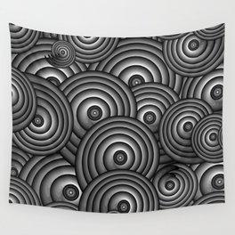 Charcoal Swirls Wall Tapestry