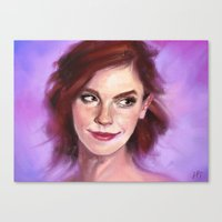 emma watson Canvas Prints featuring Emma Watson by Killerkun