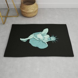 Marilyn Statue Of Liberty Rug