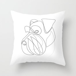 Mittelschnauzer - one line drawing Throw Pillow