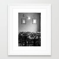 cafe Framed Art Prints featuring Cafe by J. Ann Photography