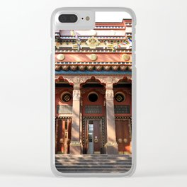 Main Entrance. Buddhist traditional sangha of Russia. Clear iPhone Case